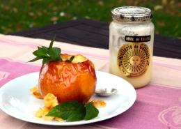 Recette Pommes au four au miel du gâtinais et menthe poivrée de Milly
