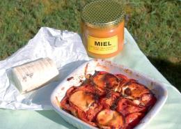 Recette Tian de légumes au chèvre et miel