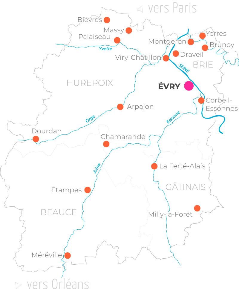 Essonne Map